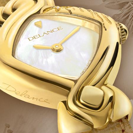Montre Delance en or, personnalisée
